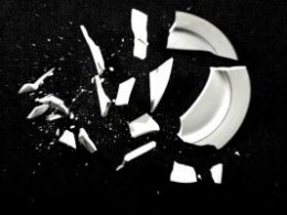 A photo of a broken plate